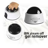El logotipo de vapor de esmalte de uñas de gel removedor de esmalte de uñas