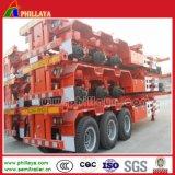 3 de l'essieu 40tons de plate-forme de conteneur remorque squelettique de semi-remorque de camion semi