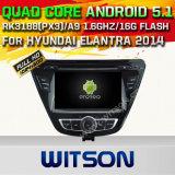 칩셋 1080P 16g ROM WiFi 3G 인터넷 DVR 지원 (A5783)를 가진 Hyundai Elantra 2014년을%s Witson 인조 인간 5.1 차 DVD GPS
