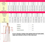 Trem longo Sleeveless do vestido nupcial que perla o vestido de casamento real A17096