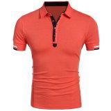 Mens personalizados Botão Lazer Slim Fit até T-shirt polo da moda