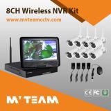Système de surveillance CCTV 8 canaux avec 8 caméras IP pour moniteur d'usine (MVT-K08)