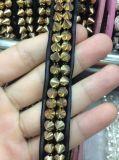 Testo fisso del merletto della catena del metallo del ribattino per il tessuto di cotone di cucito della decorazione dell'abito