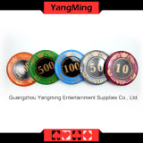 730PCS/Crystal Screen Style Poker chip Set with in Aluminum Case casino chip set for 5-10 Gambling Games (YM-SJSY001)