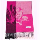шарф яркое розовое Pashmina зимы хлопка 170*68cm для повелительницы