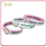 Qualität-Debossed gedrucktes konkaves Entwurfs-Gummi-Armband