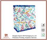 Белая бумага карты подарок пакет с горячей штамповки логотип для Clothese и подарков