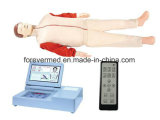 Réanimation cardio-respiratoire Yj-Crp90 d'ordinateur automatique de mannequin de CPR
