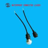 Sostenedor plástico de la lámpara del sostenedor E27 LED con el cable de transmisión del enchufe de los 50cm