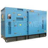 De stille Alternator van Diesel Keypower van de Generator met de Tank van de Brandstof op het Frame van de Basis