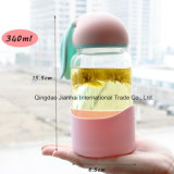 340ml子供のギフトのかわいいウサギのガラス飲料水旅行コップ