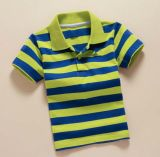 Logo personnalisé Strip Fashion Cotton Kid Polo Tee Shirt