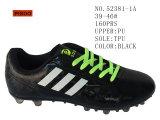Drie Kleuren Twee Voetbalschoenen van de Schoenen van de Grootte Pu