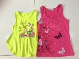 Moda roupas para crianças na menina camiseta sem mangas Vest (SV-021-026)