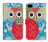 iPhone 6을%s 최신 Selling Cartoon Owl Wallet Leather Cover Case