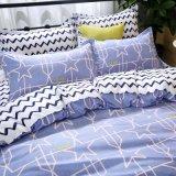 Novo desenho impresso roupa de cama de designer roupa de microfibra barato conjunto de folhas