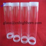 Tube de verre clair personnalisé de quartz avec l'extrémité de vis