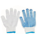 PVCによって点を打たれる綿によって編まれる手袋か働く手袋またはゴム手袋
