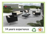 Freizeit-Rattan-Möbel-Weidengarten-Sofa mit den Metallbeinen