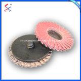 전력 공구는 거친 플랩 디스크 24-400 모래 플랩 지르코니아 바퀴를 적용한다
