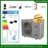 Amb。 -25cの冬の家の床Heating100~350sqのメートル部屋12kw/19kw/35kw Eviの空気ソース最もよいヒートポンプのCondensorの分割された給湯装置