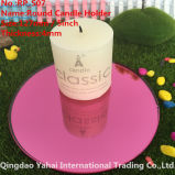 4mm Round Pink Glass Mirror Candle Holder