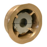 Tipo d'ottone Bronze/valvola di ritenuta della cialda del disco del doppio