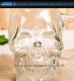 500ml effacent la boisson en verre, choc de maçon de forme de crâne de cocktail