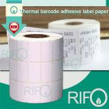 Theraml adhesiva Papel de etiquetas de código de barras de la impresora con MSDS RoHS