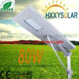 l'indicatore luminoso di via solare 80W ha integrato tutti in un tipo con la batteria del Li