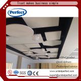 黒い音響のガラス繊維の天井のタイル
