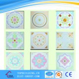 595*595*9mm Glas-Faser Reinforced Colorful Gypsum Ceiling Tile/Colorful Gypsum Ceiling Tile