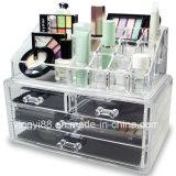 Atacado de jóias acrílicas e armazenamento de cosméticos Display Organizer Two Pieces Set