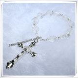 De nieuwe Godsdienstige Armband van de Rozentuin van het Decennium van de Parels van het Glas van het Ontwerp (io-CE067)