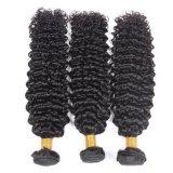 Cabelo brasileiro Kinkly Cabelos encaracolados cabelos virgens de extensão de Cabelo humano em bruto