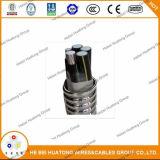 Cable enclavijado aluminio enumerado UL de Mc de la envoltura del PVC de la armadura