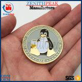 China Fabricante Pinguim moeda comemorativa de ouro de Metal Fornecedor