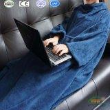 Super теплой фланели флис Snuggie одеяло с рукавами