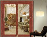 Thermal Break Vidraça dupla porta francês de alumínio Design da porta de dobragem