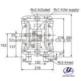 Движение воздуха Bml-20 пневматический мембранный насос для печати Gravure