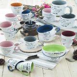 glassa di ceramica di tono della tazza due della minestra 17oz