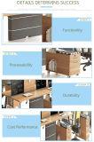 Tabela de madeira da equipe de funcionários do escritório branco superior da melamina do projeto