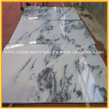 Nuevos azulejos de mármol blancos Polished para la cocina/el suelo y la pared del cuarto de baño
