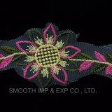 Fiore di modo che assetta il tessuto di tessile d'avanguardia degli accessori per il vestiario del merletto del ricamo