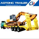 De Aotong del excavador del transporte 3 del árbol de la base acoplados inferiores del acoplado/del carro semi para la venta