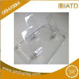 Étalage acrylique clair fait sur commande en gros de compteur de téléphone mobile