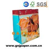 Bolsa de papel de encargo colorida de Imges para el embalaje o envolver