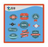 Escritura de la etiqueta específica de la impresión del descuento de la información de la alta calidad