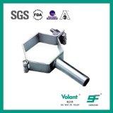 Hexagonal de acero inoxidable higiénico soporte tubo adaptador de tubería