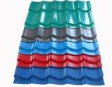 Hoja de acero acanalada revestida del material para techos del color profesional PPGI de la fabricación